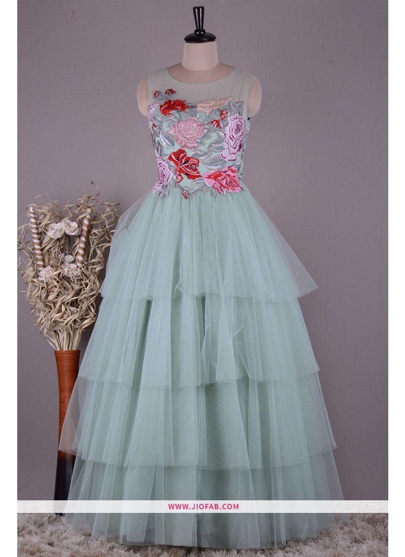Shop Designer Latest New Arrival Partywear Arctic Color Gown Online