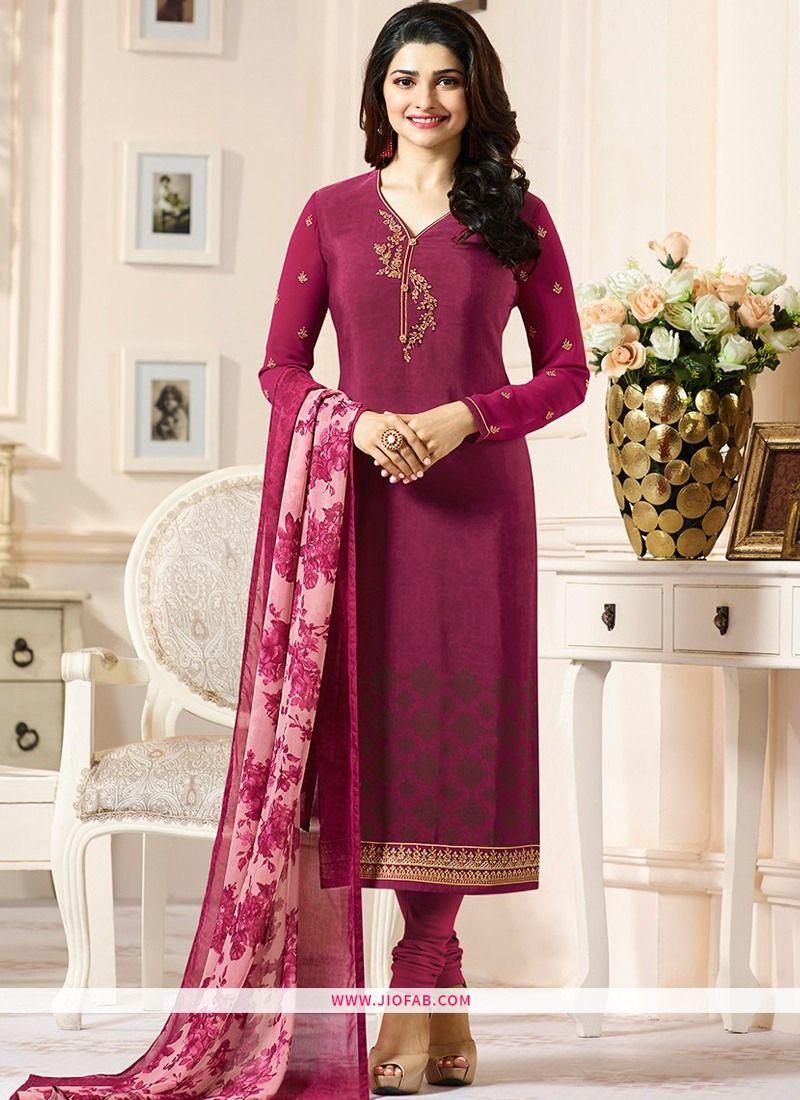 404501d49a Shop Online Designer Wedding Embroidered Pink Crepe Salwar Suit