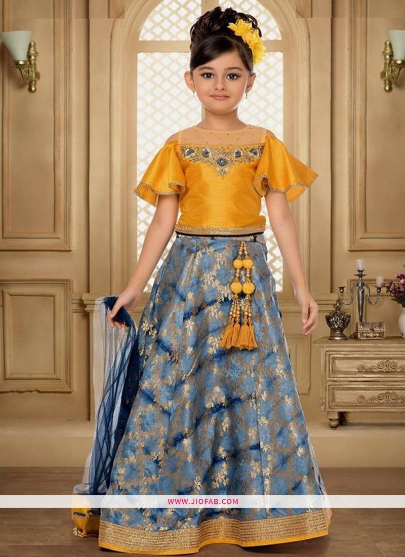 b45fae5a9 Online Purchase Festive Indian Wear Grey Color Lehenga Choli For Girl Kids