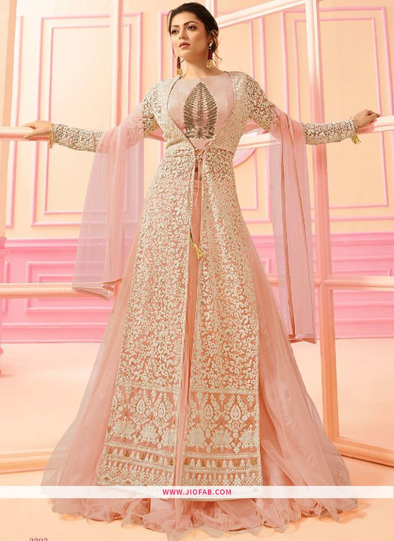 21b2360280 LT 2203 Nitya | Buy Indian Designer Traditional Anarkali Salwar Suit In  Light Peach Color Online