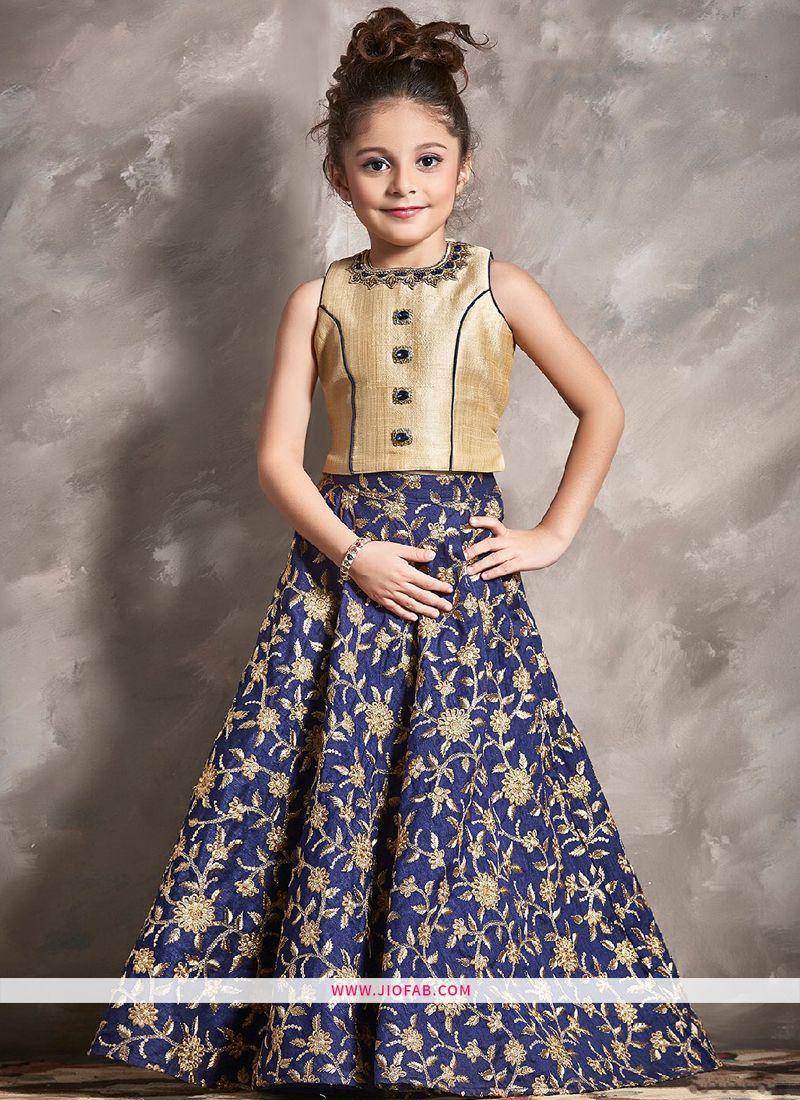 8ce5a6da2 Shop Kids Wear Cream Color Indian Lehenga Choli For Festive Online