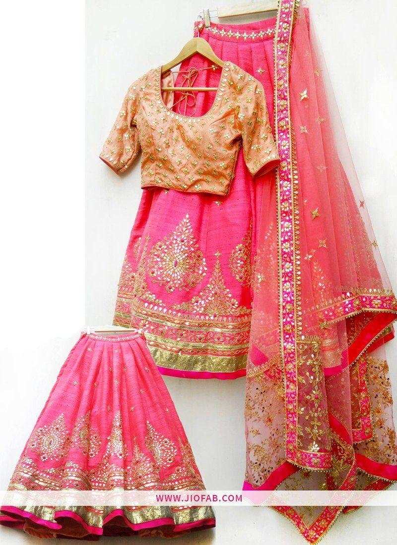 6062467db59 KT 2052 Bangalore Silk Sequnce Work Pink Cocktail Boutique Lehenga Choli