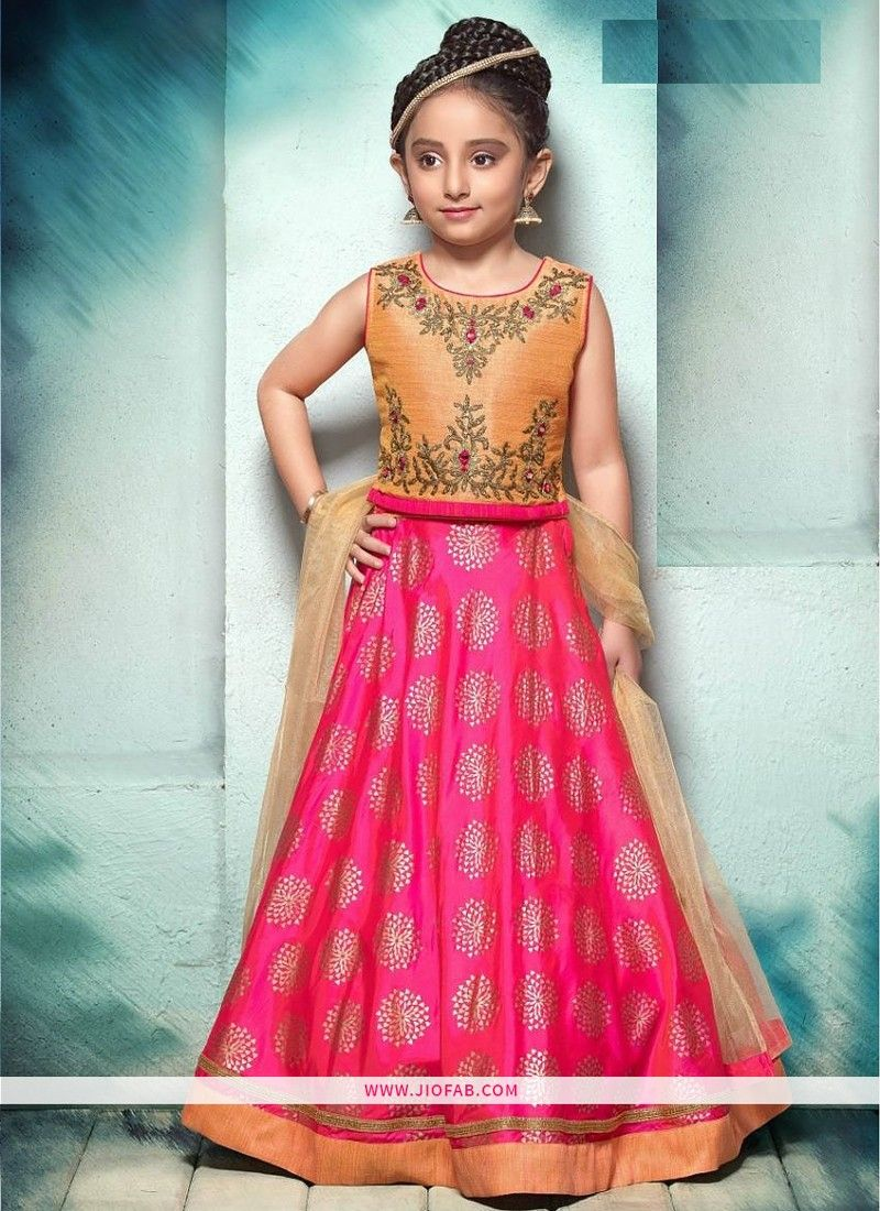 56c891cf0fdb Shop Latest Indian Traditional Wear Pink Color Lehenga Choli For ...