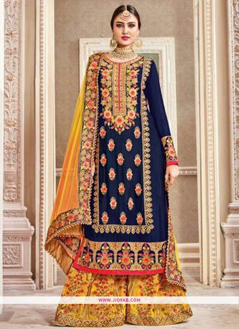 Shop Online Latest Navy Georgette Punjabi Patiyala Suits For Women 36dd9034ee