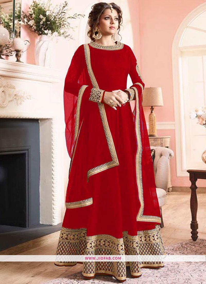 8352fe5d65 Shop Online LT 97003 Red Banglori Satin Silk Latest Designer Partywear  Salwar Suit