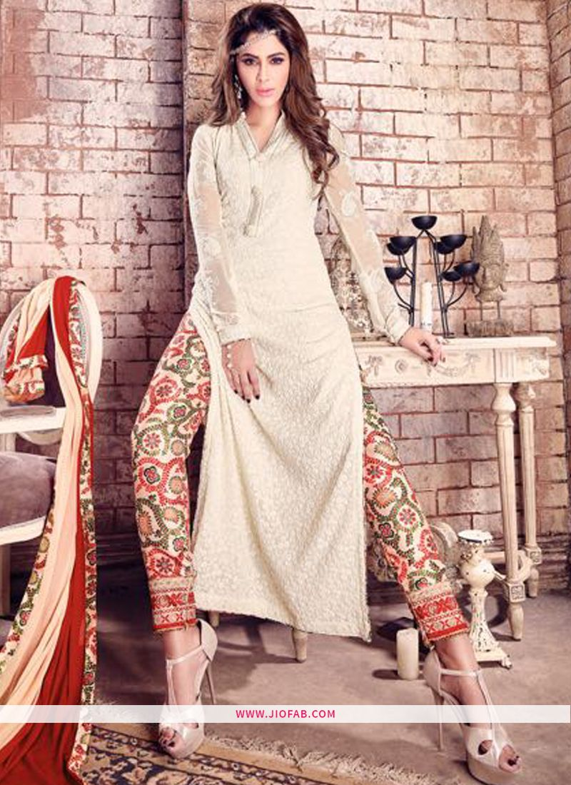19ef3b9b7f2 Buy Online Maisha 4205 Hit Design Off White Salwar Suit With Heavy Duptta