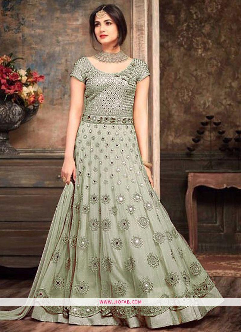 3af5ab1dff Buy Maisha 5102 Hit Design Sage Color Salwar Suit With Heavy Duptta Online
