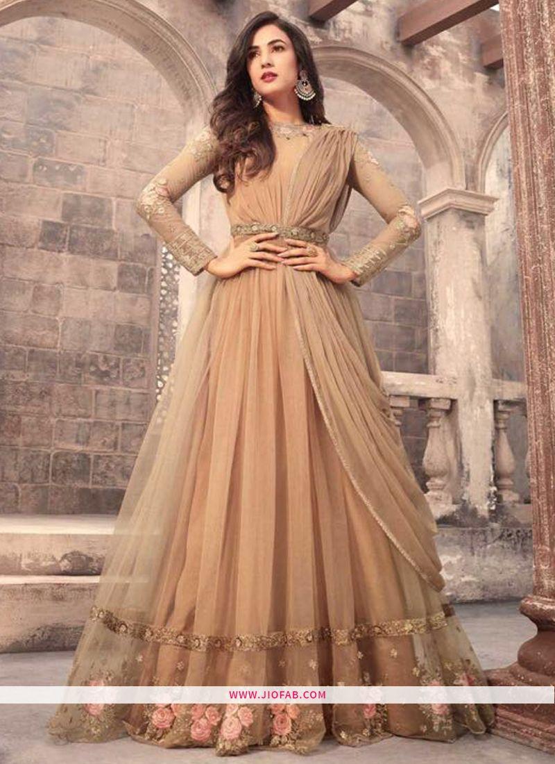 4aa2741f90 Buy Maisha 5205 Presents Beige Designer Anarkali Suit For Wedding Online