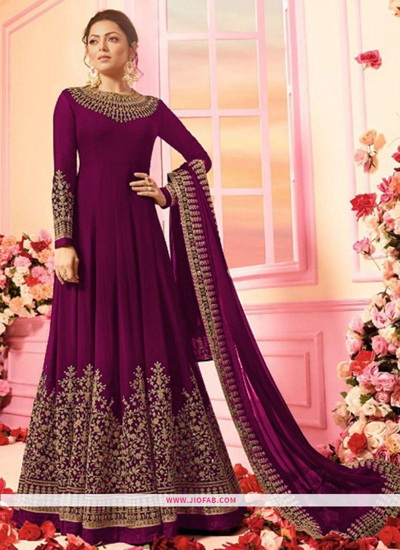 cab563ca8f4e LT Nitya 2202 | Buy New Style Designer Long Anarkali Fashion Salwar Suit In  Magenta Color Online