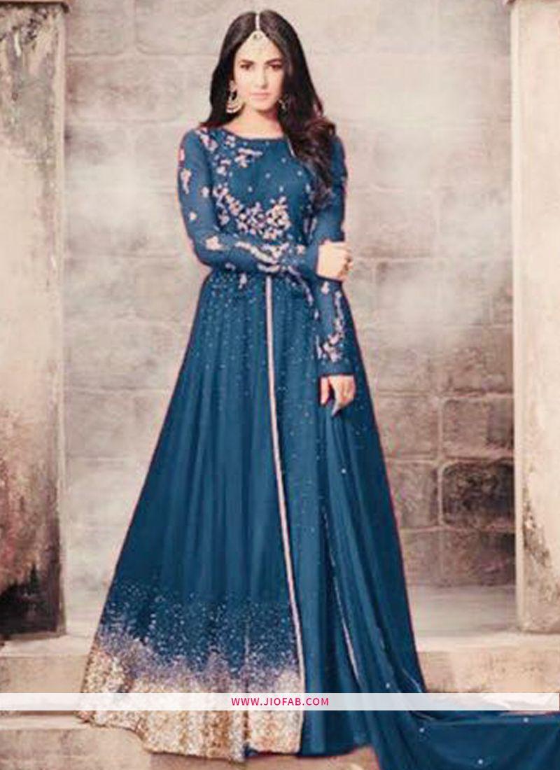 937c977cd6ad Maisha 5203 | Shop New Style Designer Long Anarkali Fashion Salwar Suit In  Teal Blue Color Online
