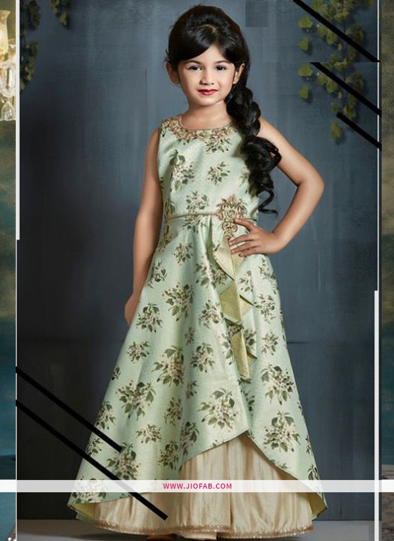 595a024afcd2 Shop Partywear Frock Design Ideas For Little Girl Dresses In Olive ...