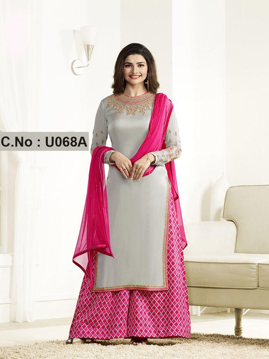 11535d5c2e Buy Online Pink Designer Embroidered Satin Georgette Lehenga Suit - Women's  Clothing