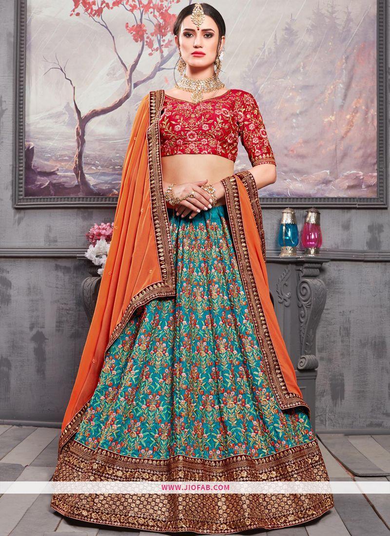 09410c1f6 Buy Online Sabyasachi Mukherjee Banarasi Silk Bridal Lehenga Choli ...
