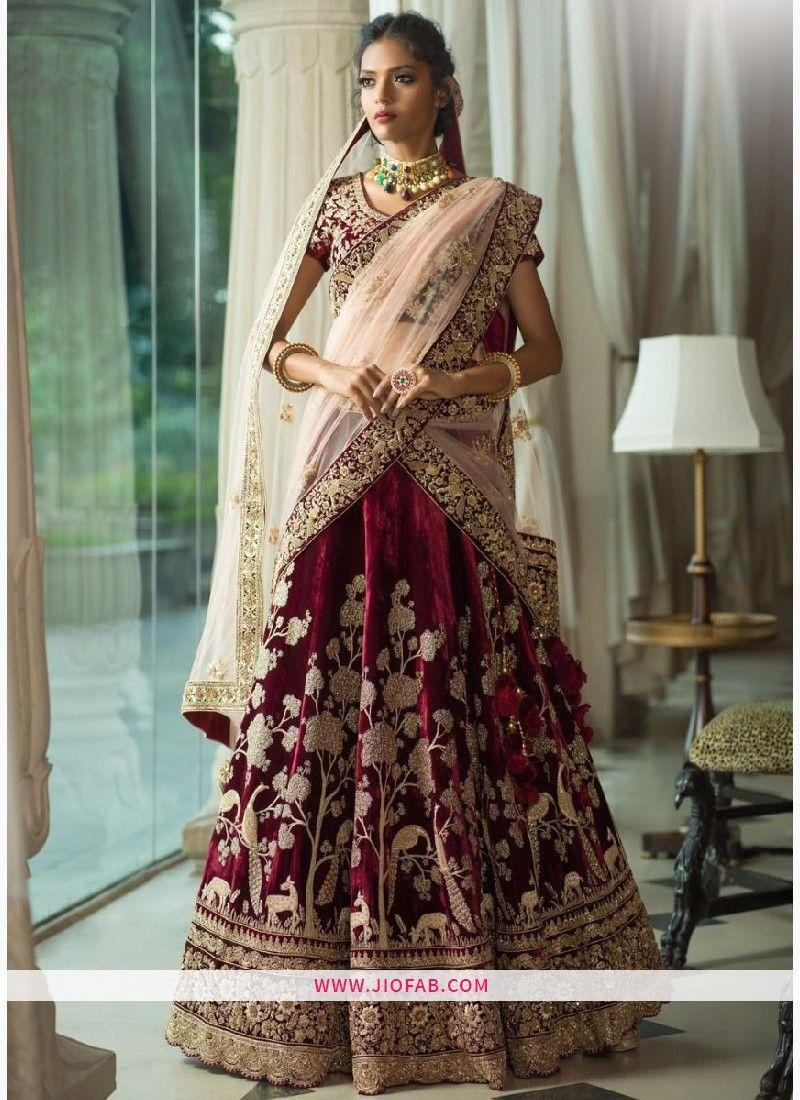 sabyasachi mukherjee rose wood valvate bridal lehenga