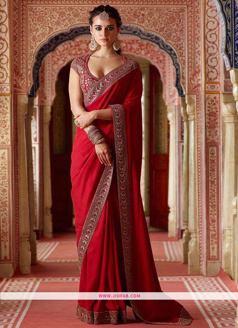 dfb620643ef Buy Online Sabyasachi Red Partywear Saree SN 139
