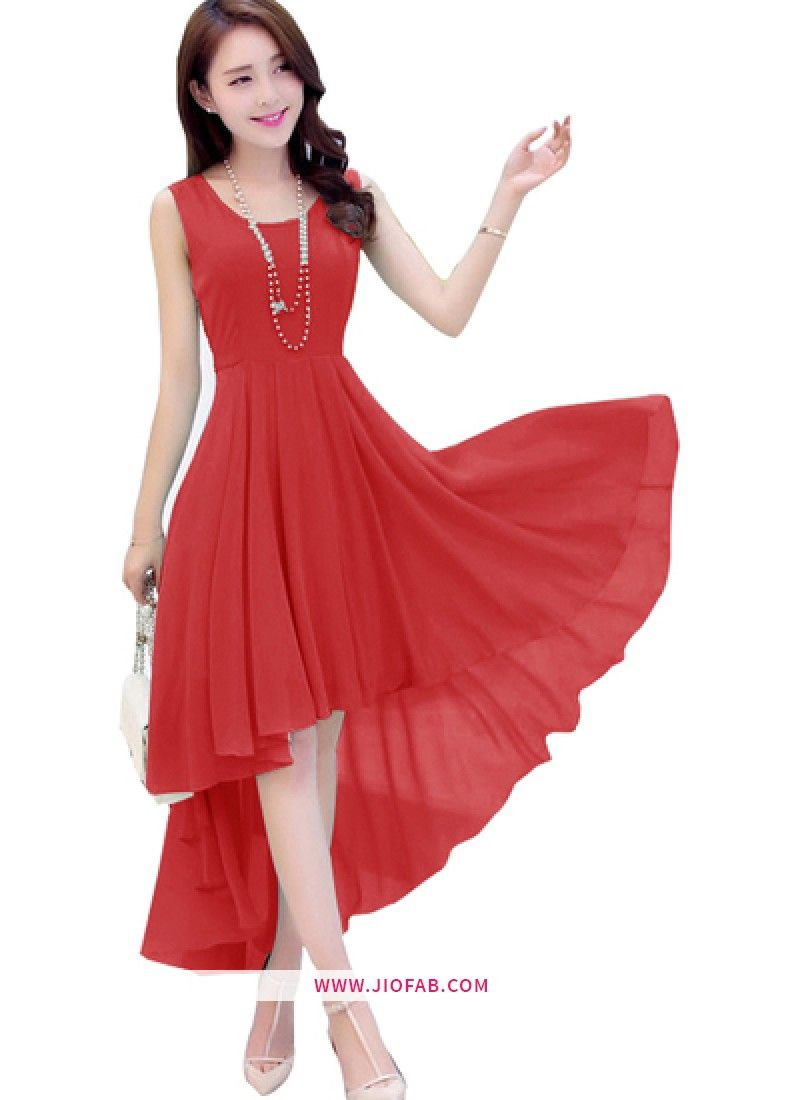Designer Red Cocktail Dress