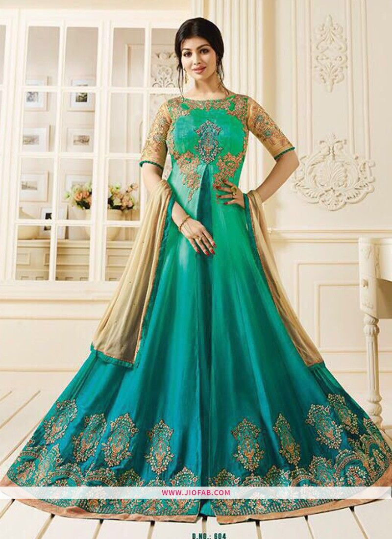 e944aa1a99b Shop Zubeda Posh Collection Rama Pure Georgette Traditional Salwar Suit  Online