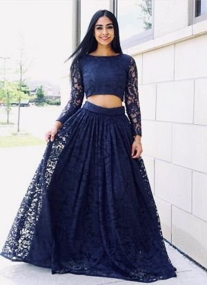 A Perfect Swag For Ur Upcoming Festival Season Navy Lehenga Choli