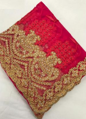 Amazing Gajari Hand Work Wedding Saree