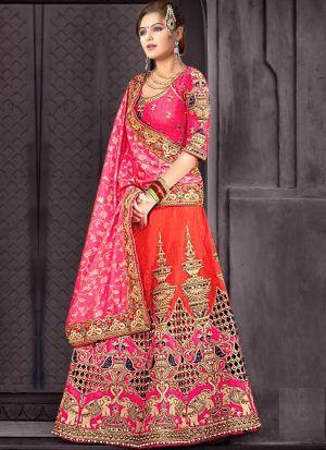 Awesome Wedding Wear Pink Lehenga Choli