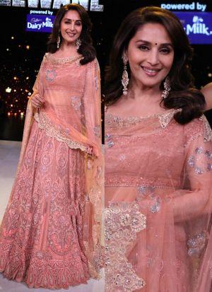 Baby Pink Heavy Designer Lehenga Choli With Naylon Mono Net Dupatta