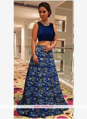 Bangalory Silk Blue Anarkali Lehenga