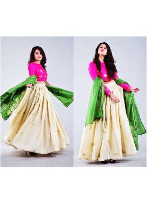Banglori Silk White Classy Lehenga Choli