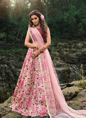 Beautiful Design Multi Thread Zari Work Lehenga Choli