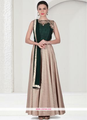 Beige Color Diwali Special Designer Gown latest fashion collection