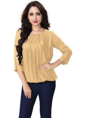 Beige Color Ladies Casual Top