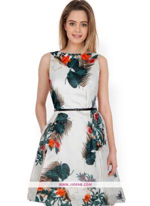 Bhagalpuri Designer Green Dress