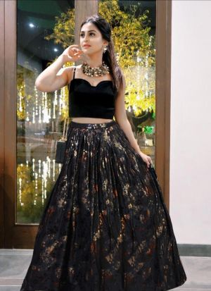Black Design Your Summer By Wearing This Hot Lehenga Choli
