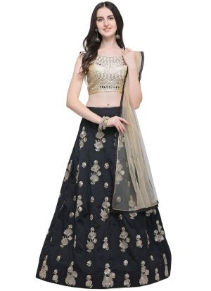 Black Designer Exclusive Bridal Lehenga Choli
