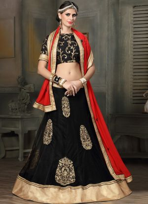 Black Designer Lehenga Choli For Wedding