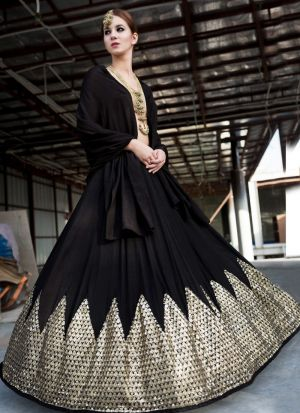 Black Thread Work,Multy Work Lehenga Choli With Duptta