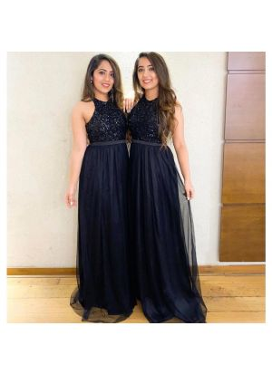 Black New Arrival Of Special Gown Style Suit Collection For Festival
