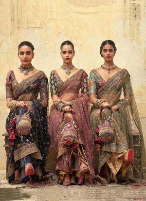 Black New Launching Naylon Mono Net Bollywood Celebrity Saree