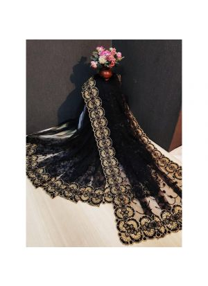 Black Party Wear Latest Designer Fancy Saree Collection