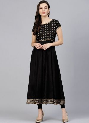 Black Santoon Designer Long Kurti For Summer