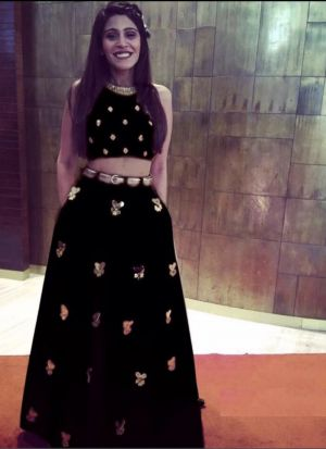 Black Taffeta Silk Beautiful Lehenga Choli