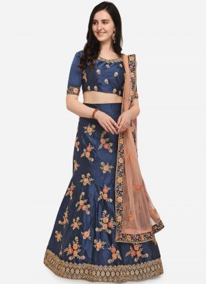 Blue Color Designer Exclusive Bridal Lehenga Choli
