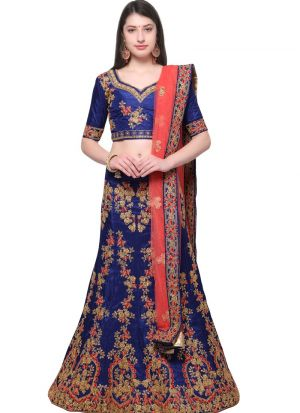 Blue Designer Lehenga Choli For Wedding