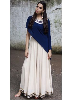 Blue New Arrival Of Special Gown Style Dresses Collection For Festival