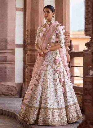 Breath Taking White Coloured Designer Lehenga Choli