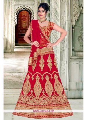 Bridal Red Designer Anarkali Lehenga
