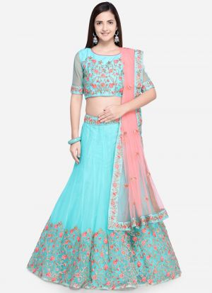 C Green Net Traditional Lehenga Choli
