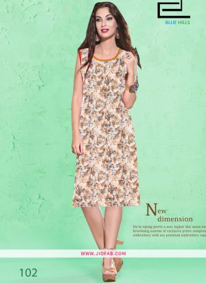 Cotton Fabric Stitched Summer Kurti Collection