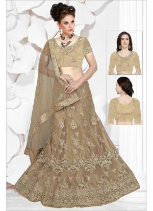 Demanding Chiku Net Designer Lehenga Choli Collection