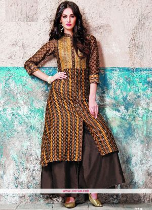 Designer Latest New Arrival Partywear Coffee Color Gown