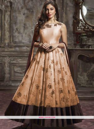 Designer Latest New Arrival Traditional Peach Gown